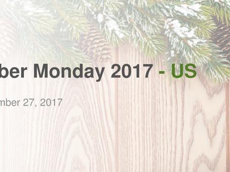 《美國市場2017年CYBER MONDAY網路星期一線上購物數據分析報告》