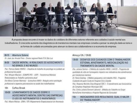 1º Encontro Saúde Mental nas empresas: das demandas às intervenções