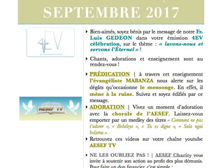 ACTU AESEF | SEPTEMBRE 2017