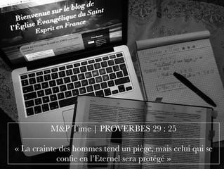 #Meditation'sTime | Proverbes 29:25