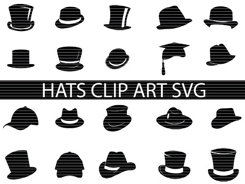 Hats Silhouette Svg Bundle