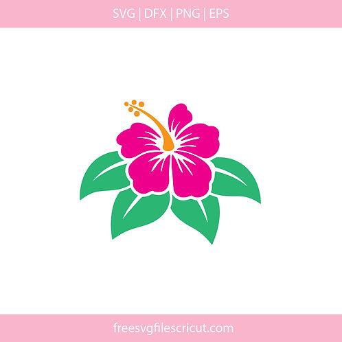 Hibiscus flower svg clip art