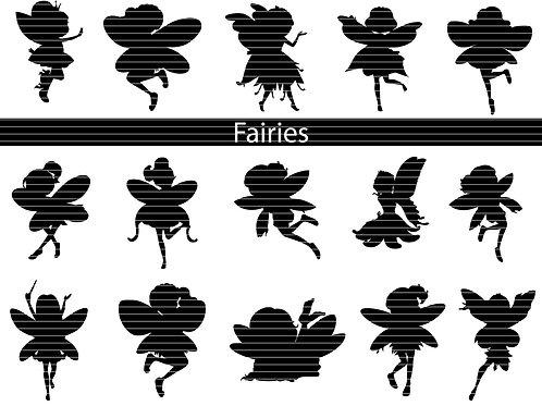 Fairies Silhouette Bundle