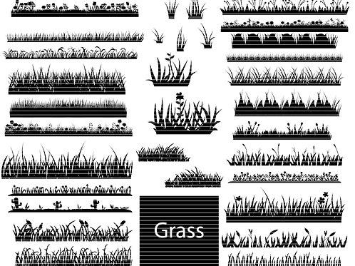 Grass Silhouette Svg Bundle