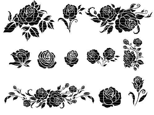 Rose Svg Cut Files