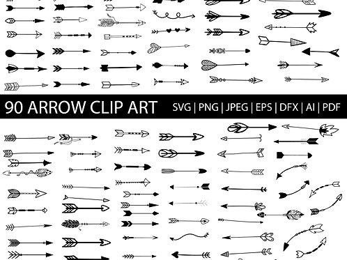 Hand Drawn Arrow Svg Silhouette Clip Art Images