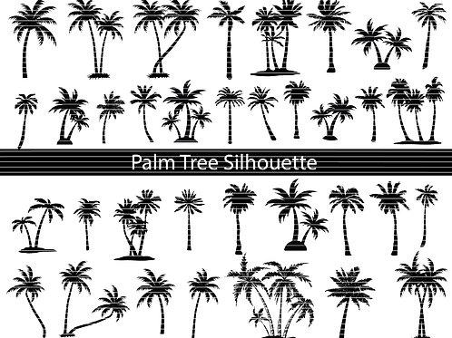 Palm Tree Silhouette Svg