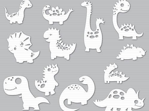 Baby Dinosaur Svg Cut File