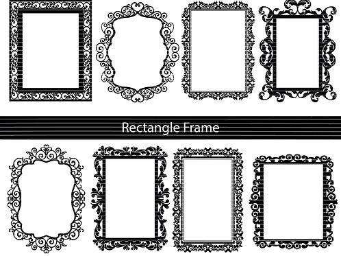 Ornamental Frame Cut File Svg