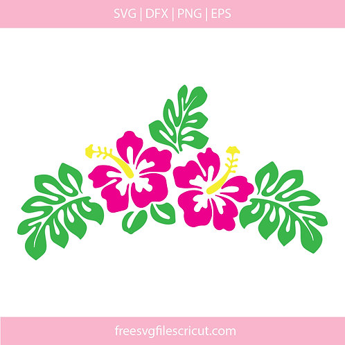Hibiscus flower svg