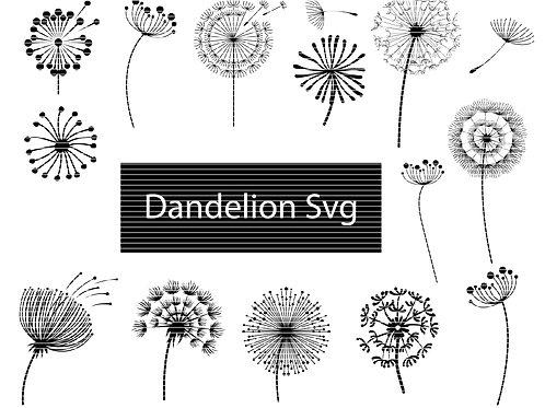 Dandelion Flower Svg Bundle