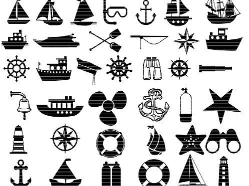 Nautical Svg Clip Art Bundle