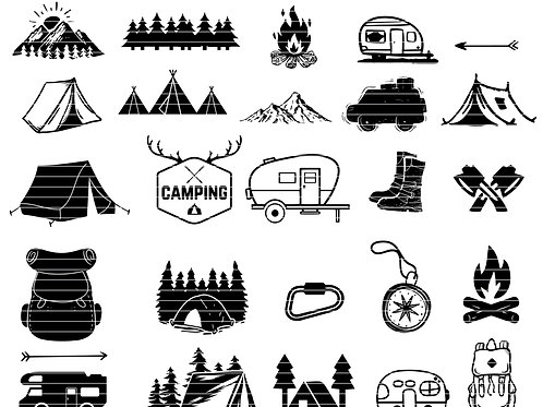 Camping Silhouette Svg Bundle