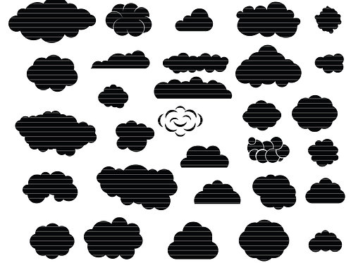 Cloud Silhouette Svg Bundle