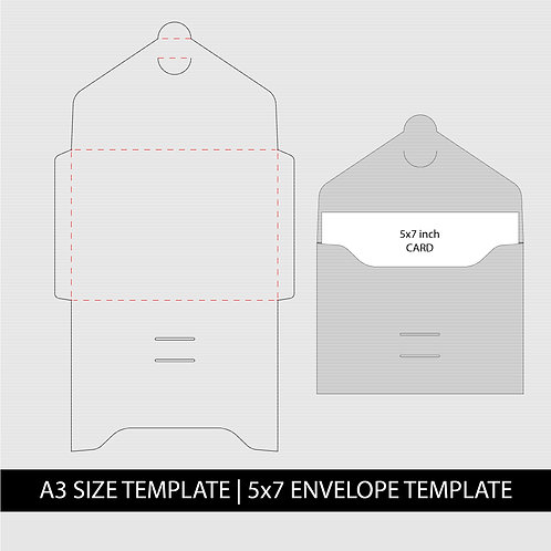 Envelope Template Svg for 5x7 Card