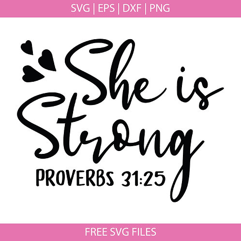 She is Strong Svg file