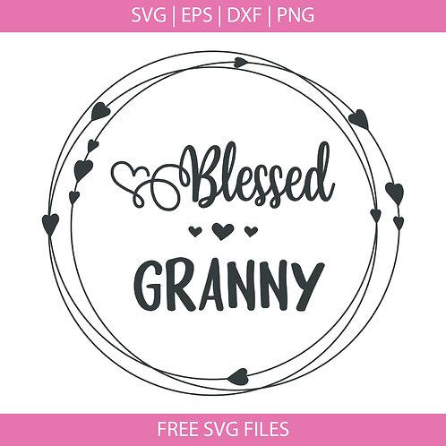 Blessed Granny Svg file