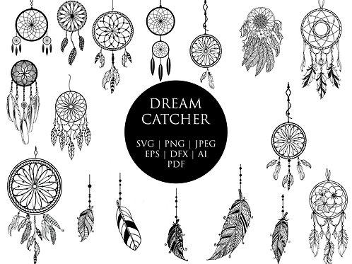 Beautiful Dream Catcher Svg Clip art Images Bundle