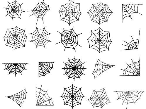 Spider Web Cut File Svg
