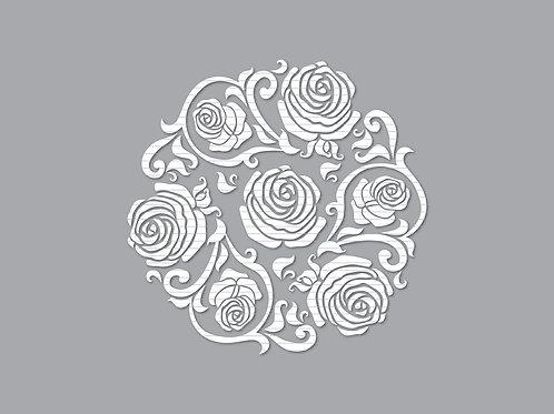 Rose Cut File Template