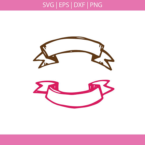 Hand Drawn Banners Svg