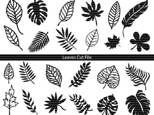 Leaves Cut File Svg