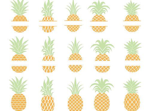 Pineapple Clip Art Svg Bundle