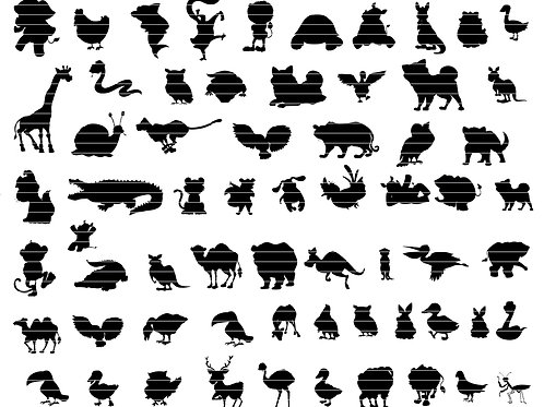 Cartoon Animals Silhouette Bundle