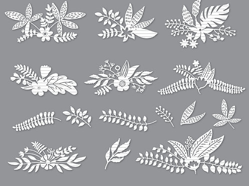 Vintage Flower Set Svg Files