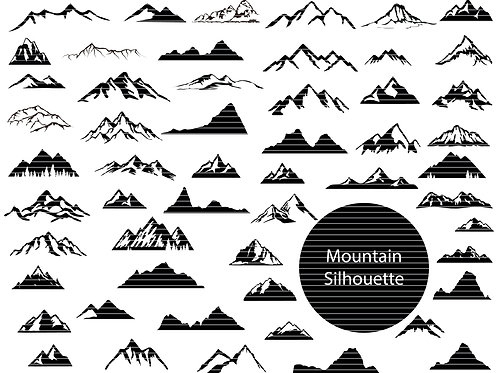 Mountains Silhouette Bundle
