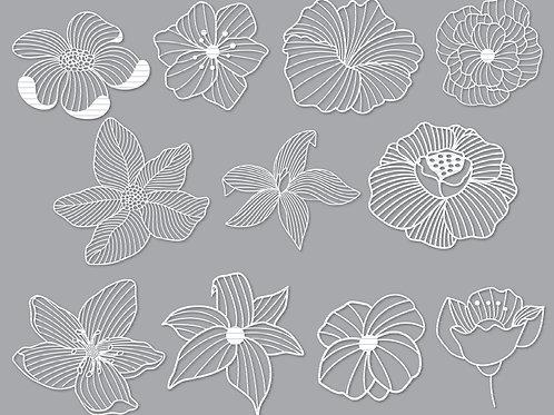 Flowers Cut File Svg Bundle