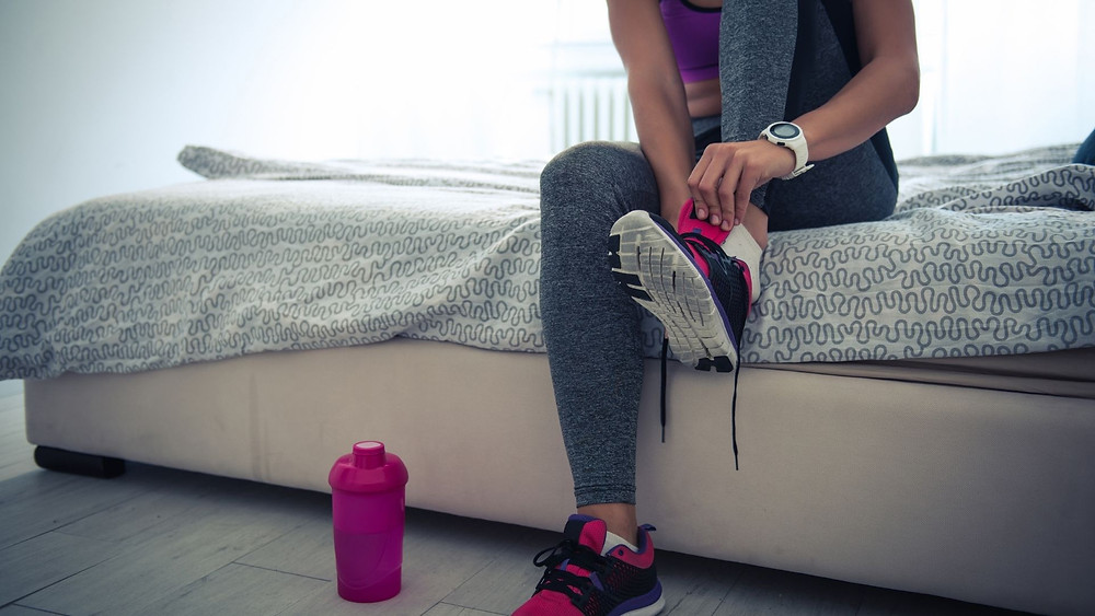 Woman going for a run instead of the gym