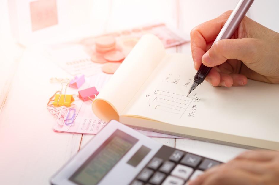 Calculator and savings goal
