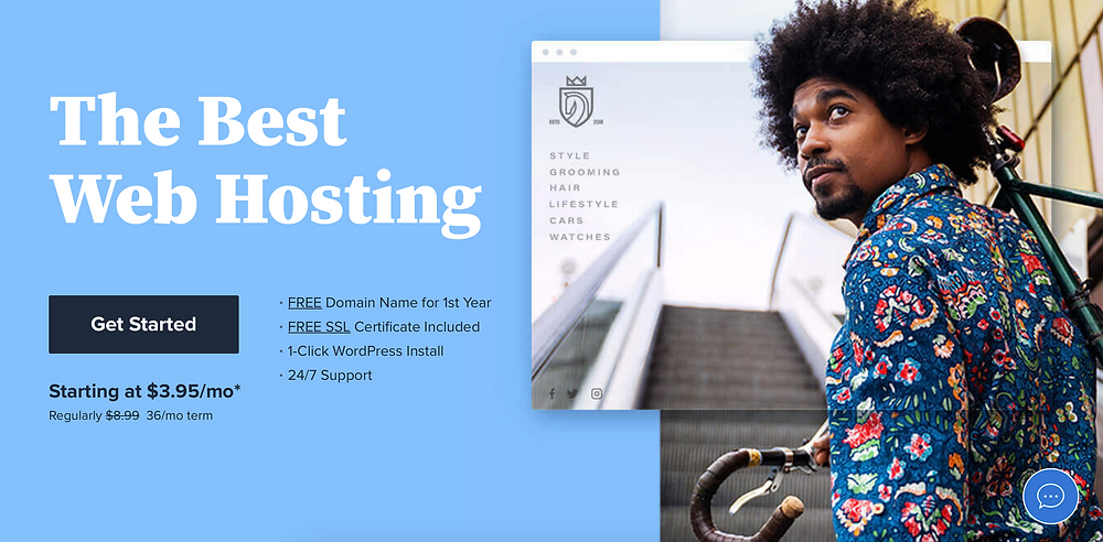 Screenshot of Bluehost.com