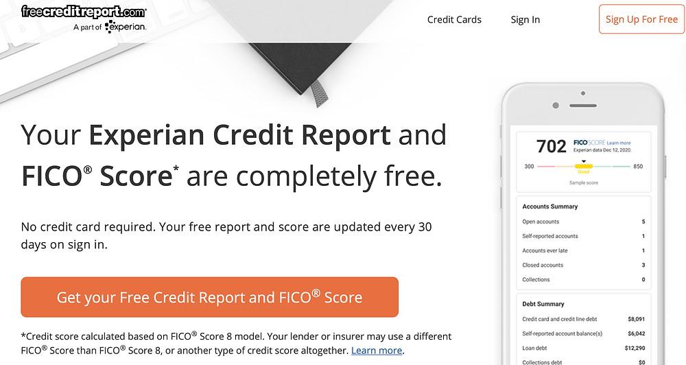 free credit report website