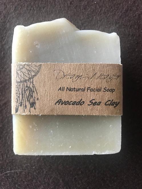 Avocado Sea Clay Facial Soap Bar