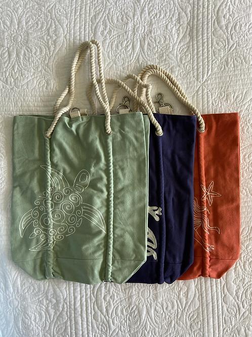 Navy Coastal Tote Bag