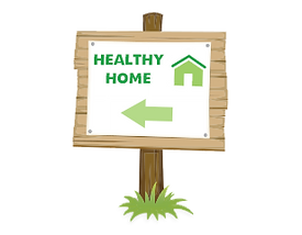 Healthy home sign for Eco-Friendly Remediation