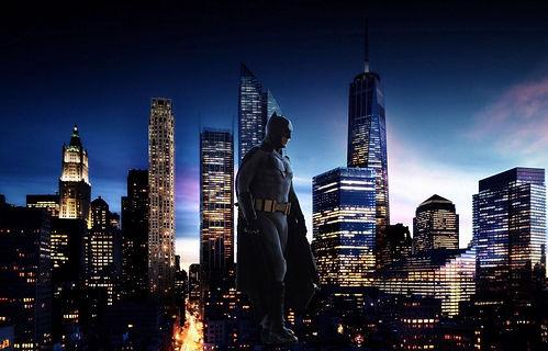 Batman watching over city