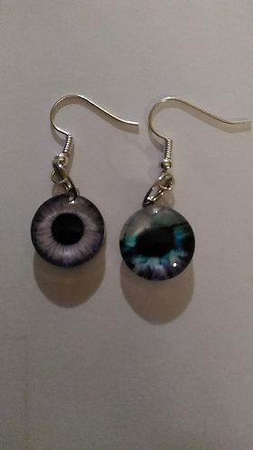 Purple Eye Earrings