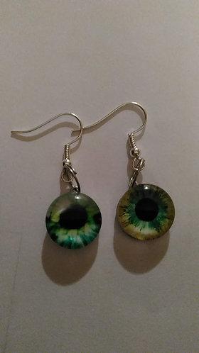 Green Eyes Earrings