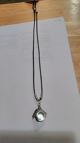 Silver Dragon Claw Ball necklace
