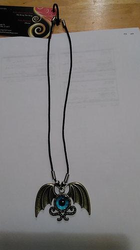 Dragon Wing necklace w/eye