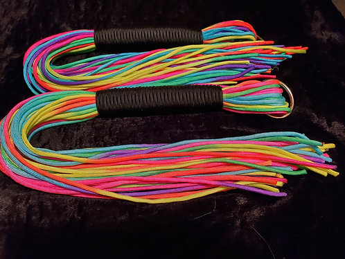 Neon Rainbow Flogger set