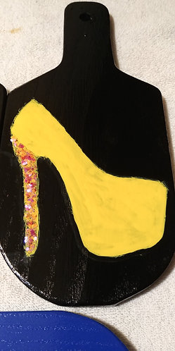 Yellow Pump Heel Paddle