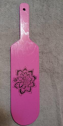 Purple Paddle with Black Rose
