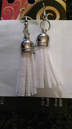 Sm White Flogger Earrings