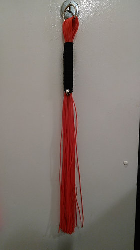 Red Skulls & Lace Flogger