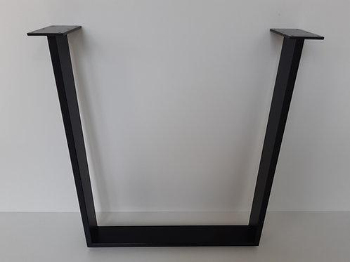 Tischkufe Schwarzstahl