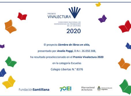 Felicitaciones Analía Poggi por la preselección para el premio Vivalectura 2020 !!!!